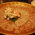 飯豊 - カワハギの薄造り