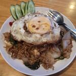 タイ料理レストラン バンチャン - カオパットキマオ上から
