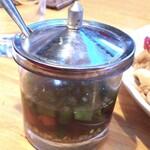 タイ料理レストラン バンチャン - 調味料。癖と辛さ強い