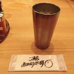 紀州清流担々麺 produce by KEISUKE - ドリンク写真:お手拭きに手書きの挨拶♩