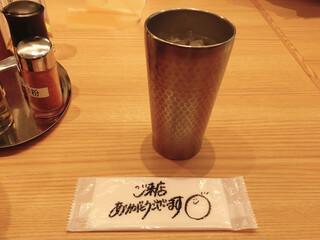 紀州清流担々麺 produce by KEISUKE - お手拭きに手書きの挨拶♩