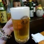 めん房 - ジョッキビールで乾杯!