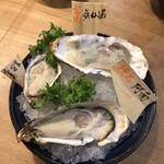 げんき - 生牡蠣3種(阿南が美味かった)