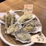 げんき - 天ぷら牡蠣2種+牛蒡天