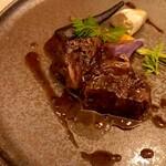 エピセ - 黒毛和牛ホホ肉赤ワイン煮 トリュフソース