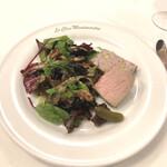 ル・クロ・モンマルトル - 前菜・仏産きのこのソテー田舎風パティと鶏レバームース