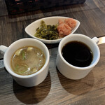 あたしん家 - スープ サラダ 明太子 高菜