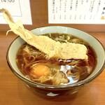 そば うどん 元長 - あなご天そば(480円)+生玉子(60円)
