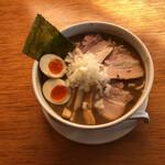 """煮干そば とみ田 - """"○得煮干どろそば(大)""""1,050円♪"""