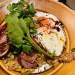キッチンリブス - 料理写真:ラムチョップの照り焼き添えジャンバラヤ 1,900円