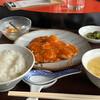 広東厨房 - 料理写真:ランチセットA 海老のチリソース ¥1100
