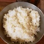142977767 - 焼肉定食 (カルビ2枚、麦飯、たまねぎサラダ、スープ付き.980円)