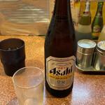 ラーメン王 - アサヒスーパードライ 瓶ビール(中)