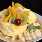 cafe a。u。n - きせつのフルーツパンケーキ