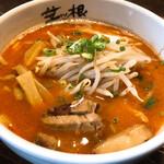 麺屋 茅根 - 辛味噌らーめん 麺並 800円