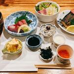 喜禄 - 喜禄ランチ 小鉢のわさび漬けが絶品です。