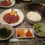 炭火焼肉 An - ランチ(カルビ&ロース定食)