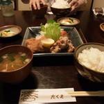 キッチン たくま - しょうが焼きヒレカツ定食1050円♪