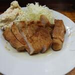 こづち - 肉生姜。この値段で厚切りロースが出るとは思わなかった。でも焼きすぎ(>_<)