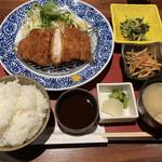 ぬる燗佐藤 大坂 - 三元豚のロースカツ御膳 (*´∀`*)