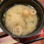 ぬる燗佐藤 大坂 - 味噌汁 (*´-`)