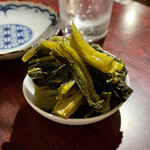 おうちあそび - *広島菜漬ダブル(¥600) (※2人前を一皿に盛ってもらったもの)