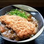 こだわり麺や - チキンカツカレーうどん(カレーうどん+チキンカツ)