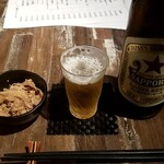 ソバ&バー のりよし - 赤星:600円+税