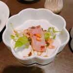 チャイナひめは菜 - 鰤の刺身中華風