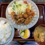 そば処蔵乃家 - カキフライ定食 ¥1100-