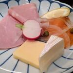 143026831 - ハム、チーズ、スモークサーモン