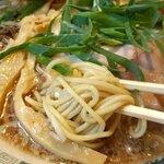もんど - 蔵出し醤油麺の細ストレート麺