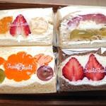 フルーツフルーツ - メランジェ、紅玉りんご&スイートポテト、みかん、フレーズショコラ(あまおう)