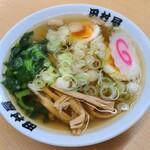 田村屋 - 味玉ラーメン(半麺)