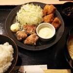 くろだるま - 唐揚げチキン南蛮コンビ定食770円込