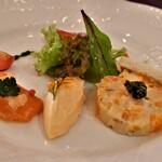 ローズホテル横浜 - サーモンのデクリネゾン 3種の盛り合わせ