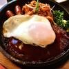 てきさす - 料理写真:ハンバーグ定食¥850のハンバーグ