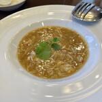 中国料理 久田 - フカヒレと上海蟹の卵入り煮込み