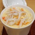 天ぷら 蕎楽亭 - ずわい蟹の茶碗蒸