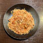 イタリア食堂 - あさりトマトのスパゲッティ ¥780 + 大盛り ¥100