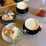 HOKI COFFEE TERRACE - この日はマロンロールケーキ。うっま!オレうっす!