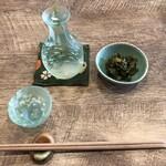 Taguriyagenji - ■日本酒 緑川 吟醸 ■大根の葉の梅和え