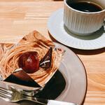 Tonkatsuyoushokunomiseitiban - モンブランとコーヒー