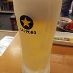 ウラニワ - 生ビールは黒ラベル450円