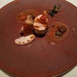 トレモンテ - 松坂ポークフィレ肉のハーブ焼き ドライトマト、オリーブ、ケイパーのブイヨン仕立て♪