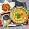 勝美屋 - 料理写真:彩り野菜のカレー煮込みwithミンチカツ