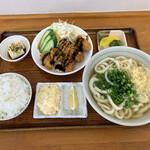 セルフうどん すずめ - 料理写真:カキフライ定食。(税込¥850-)
