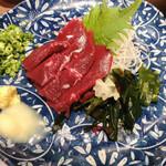 九州料理×もつ鍋 九州小町 - 熊本直送 馬刺し