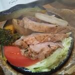 ごはんや農家の台所 - 山盛り香ばし野菜と豚肉石焼き(相方)