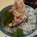 日本橋海鮮丼 つじ半 - 料理写真:海鮮丼「竹」しらすがプラス